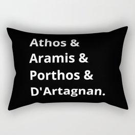 The Three Musketeers Names II Rectangular Pillow