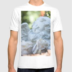 Dreaming angel in the garden Mens Fitted Tee White MEDIUM