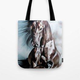 Horse in Run Tote Bag