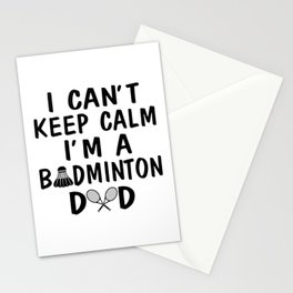I'M A BADMINTON DAD Stationery Cards