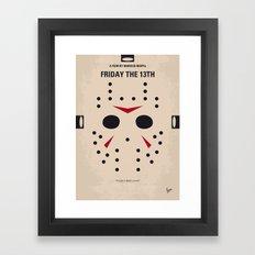 No449 My Friday the 13th minimal movie poster Framed Art Print