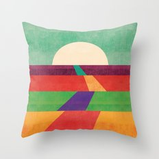 The path leads to forever Throw Pillow