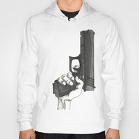 gun Hoodies featuring GUN by Takeru Amano