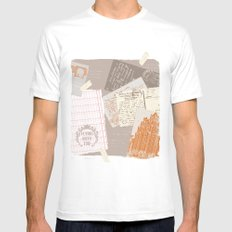 vintage postcards Mens Fitted Tee White MEDIUM