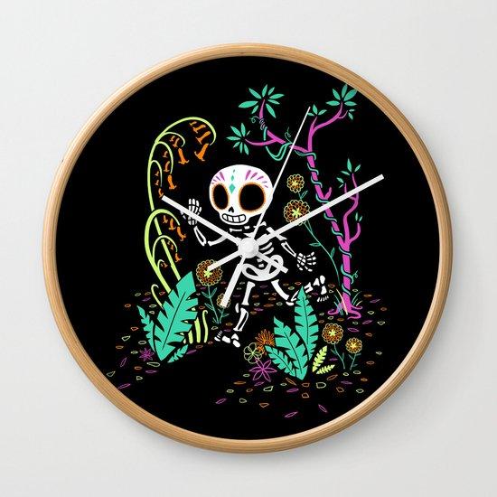 Sugar Skull Jungle Wall Clock
