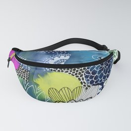 Indigo Blooms Fanny Pack