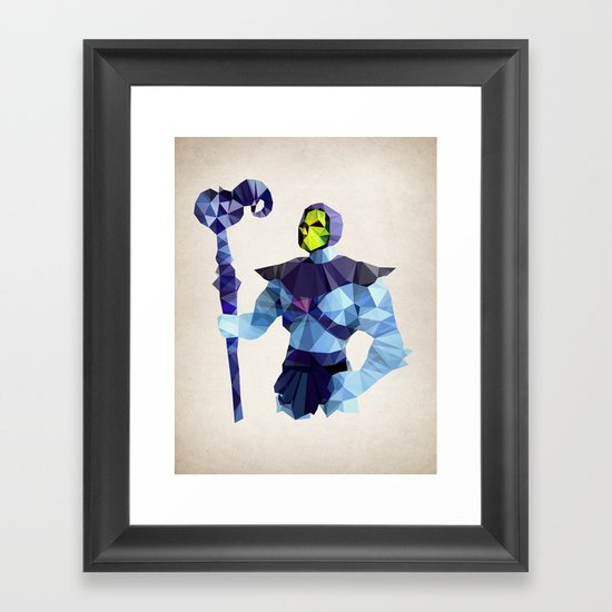Polygon Heroes - Skeletor Framed Art Print