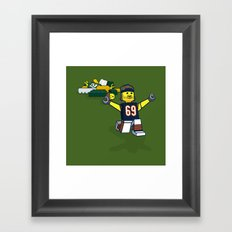 Bears Bricked: Jared Allen Framed Art Print