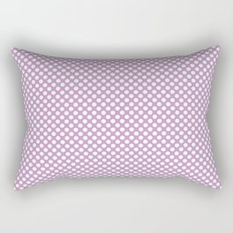 Violet Tulle and White Polka Dots Rectangular Pillow