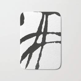 0523: a simple, bold, abstract piece in black and white by Alyssa Hamilton Art Badematte