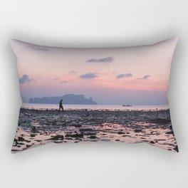 Crabbing at dawn Rectangular Pillow