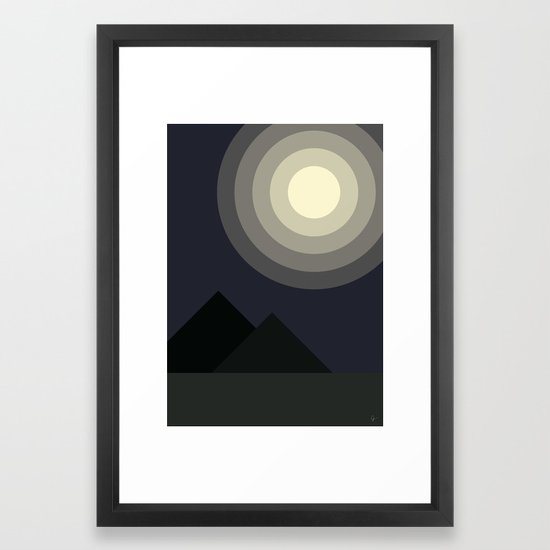 Full Moon Moonlight at Midnight in the Mountains by carrielymandesigns