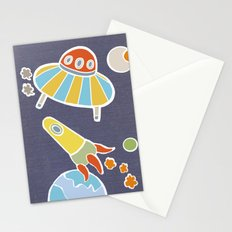 space flying Stationery Cards