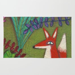 Fox in the Garden Rug