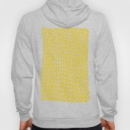 Hand Knit Yellow Hoody