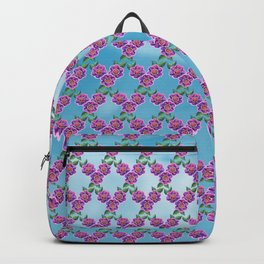 Purple Flowers Pattern Backpack