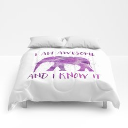 Awesome Watercolor Elephant Comforters