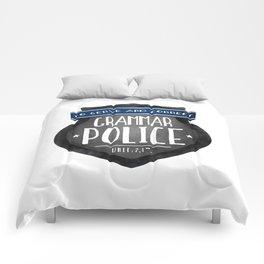 Grammar Police Comforters