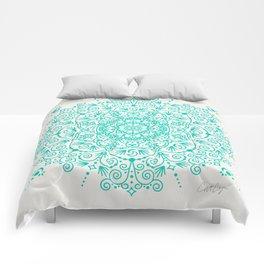 Moroccan Mandala – Turquoise Palette Comforters