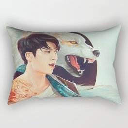 Woohyun with the Wolf Tattoo Rectangular Pillow