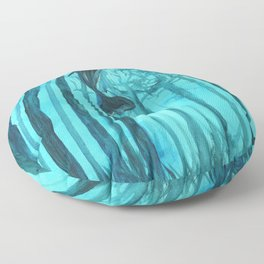 Moby´s Forest - Turquoise Floor Pillow