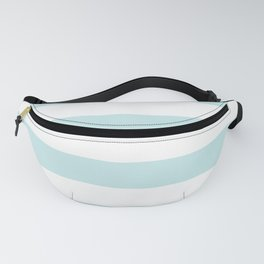 Duck Egg Pale Aqua Blue and White Wide Horizontal Cabana Tent Stripe Fanny Pack