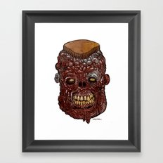 Heads of the Living Dead Zombies: General Meathead Zombie Framed Art Print