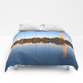 Golden Autumn Hour of Washington DC Comforters