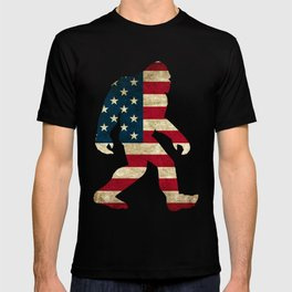 Bigfoot american flag T-shirt