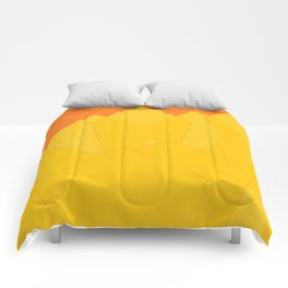Colorful Yellow Abstract Shapes Comforters
