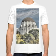 Griffith observatory MEDIUM Mens Fitted Tee White