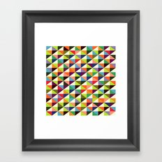 Mid-century triangle pattern Framed Art Print