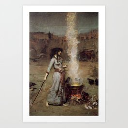 The Magic Circle, John William Waterhouse Art Print