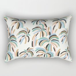 Rainbow Palm Rectangular Pillow