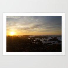 SUNSET - MONTEREY CALIFORNIA Art Print