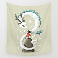 dragon Wall Tapestries featuring Dragon Spirit by Freeminds