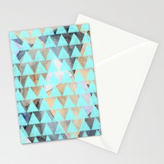 Turquoise Triangles  Stationery Cards