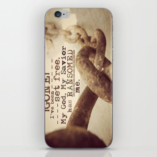 Chains are gone iPhone & iPod Skin
