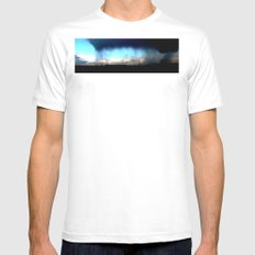 Cave from clouds.  Mens Fitted Tee White MEDIUM