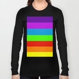 Fluorescent Rainbow |7 Colours Long Sleeve T-shirt