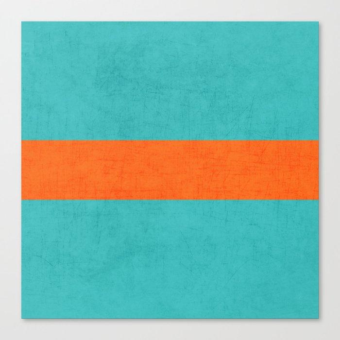 aqua and orange classic Leinwanddruck