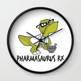 Pharmasaurux Rx - Pharmacy Dinosaur Wall Clock