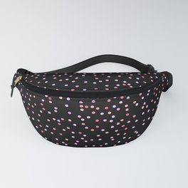 Black and Pink Polka Dot Pattern Unicorn Colours Fanny Pack