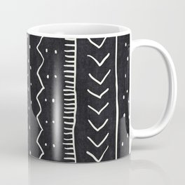 Moroccan Stripe in Black and White Coffee Mug