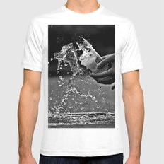 oops Mens Fitted Tee MEDIUM White