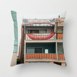 venice lips Throw Pillow
