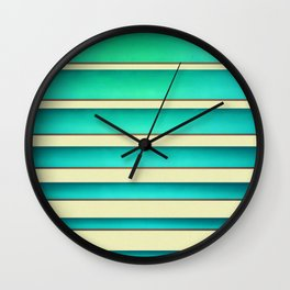 Horizontal shutter Wall Clock