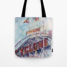 Cyclone Watercolor Tote Bag