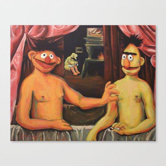 Bert Et Un De Ses Frères Canvas Print