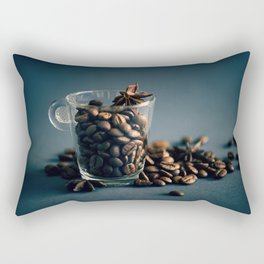 Cup of coffee with beans Rectangular Pillow